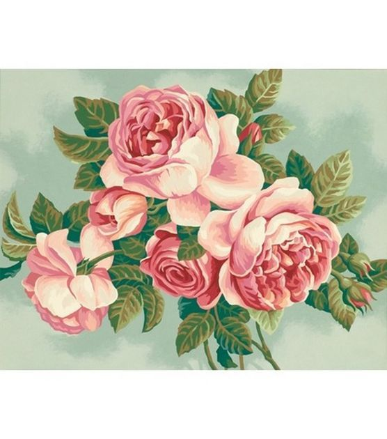 "Paint By Number Kit 14""X11""-Heirloom Roses 12.99"