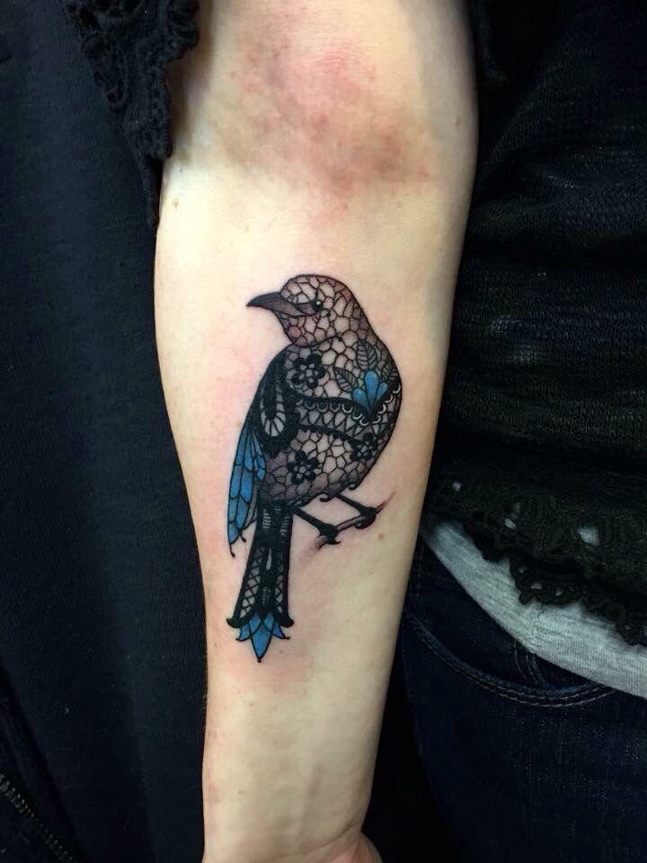 Lace mockingbird  tattoo by Dan ball tattoo find me on Facebook