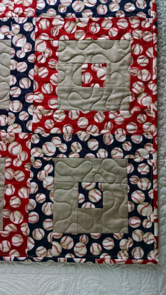 21 Best Quilt Images On Pinterest Baseball Fabric