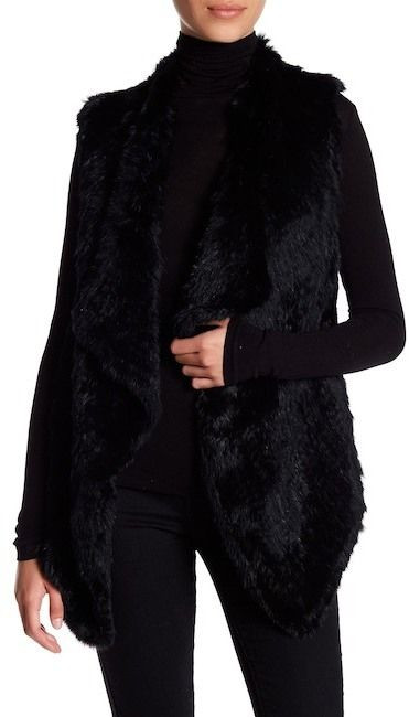 Philosophy Apparel Genuine Dyed Rabbit Fur Vest (Petite)
