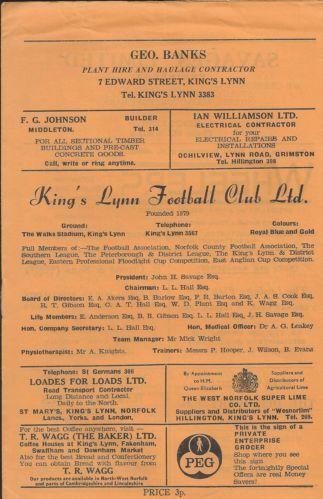 King's Lynn v. Gloucester City, 72-73