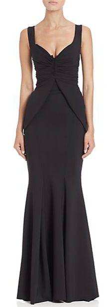 La Petite Robe di Chiara Boni Stretch Jersey Peplum Gown