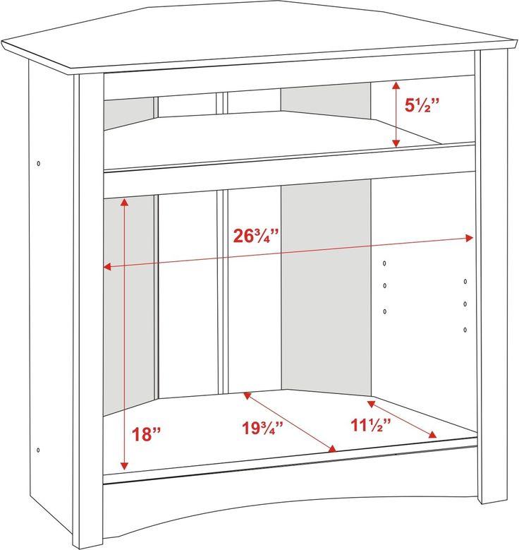 Prepac Sonoma Black Tall Corner 32 Inch TV Stand - BEYOND Stores