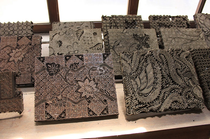 Plentong Batik Factory, Jogjakarta –Copper stamps