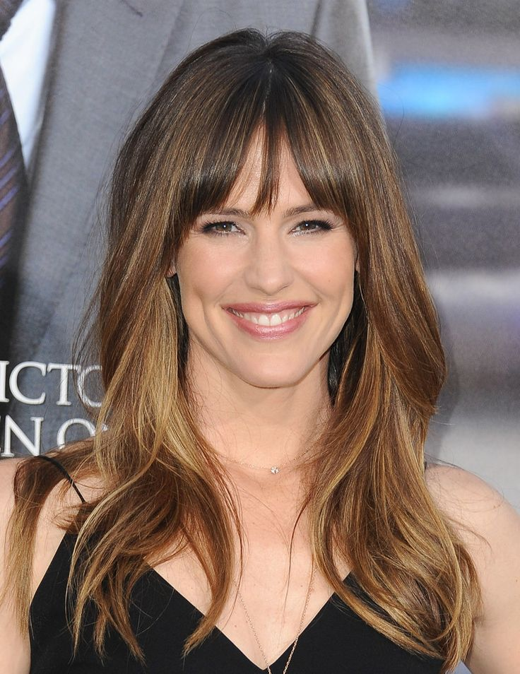 Jennifer Garner's Fringed Bangs. Once my hair grows out again. Similar to cut I had before but with natural color.