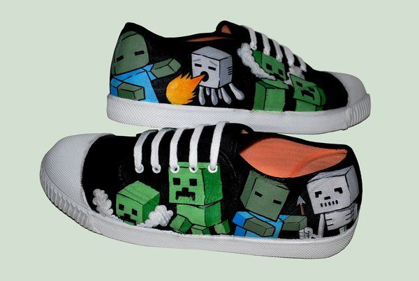 painted shoes minecraft | deviantART: More Like MnMs MM Custom Vans by ~VeryBadThing