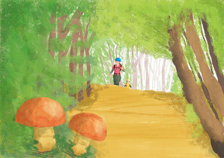 """山歩き """"Trekking"""" #illustration #landscape"""
