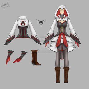 female assassins costume AC by Thira-Evenstar.deviantart.com on @deviantART