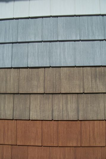 Best Faux Cedar Shake Siding Panels Shakertown Hardwood 400 x 300