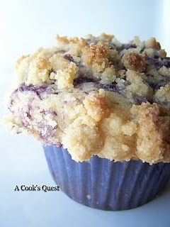 Suppusedly the best blueberry muffin recipe- worth a try. With streusel topping-