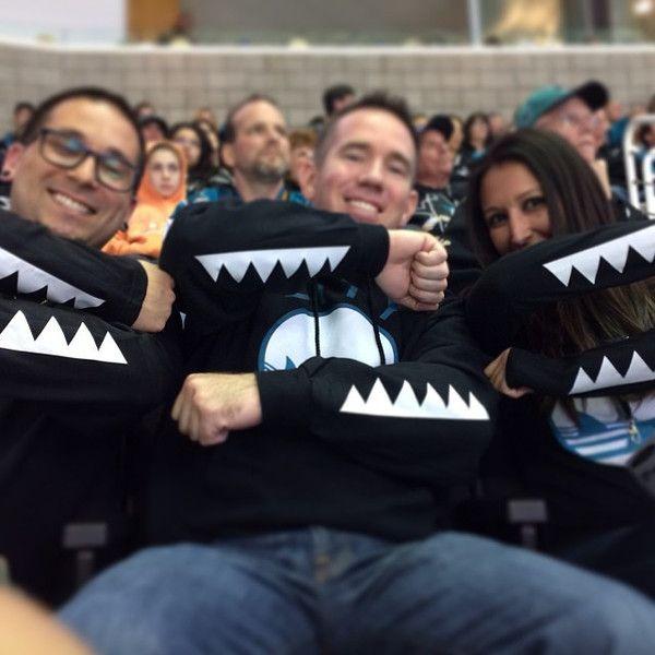FIN CITY HOODIE - San Jose Sharks Teeth Sleeves for Power Play! #SJSharks