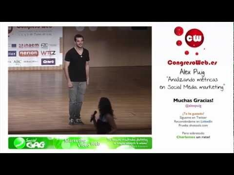 """Conferència d'Alex Puig al """"Congreso Web 2012"""", sobre com analitzar mètriques. http://twitter.com/cwzgz"""