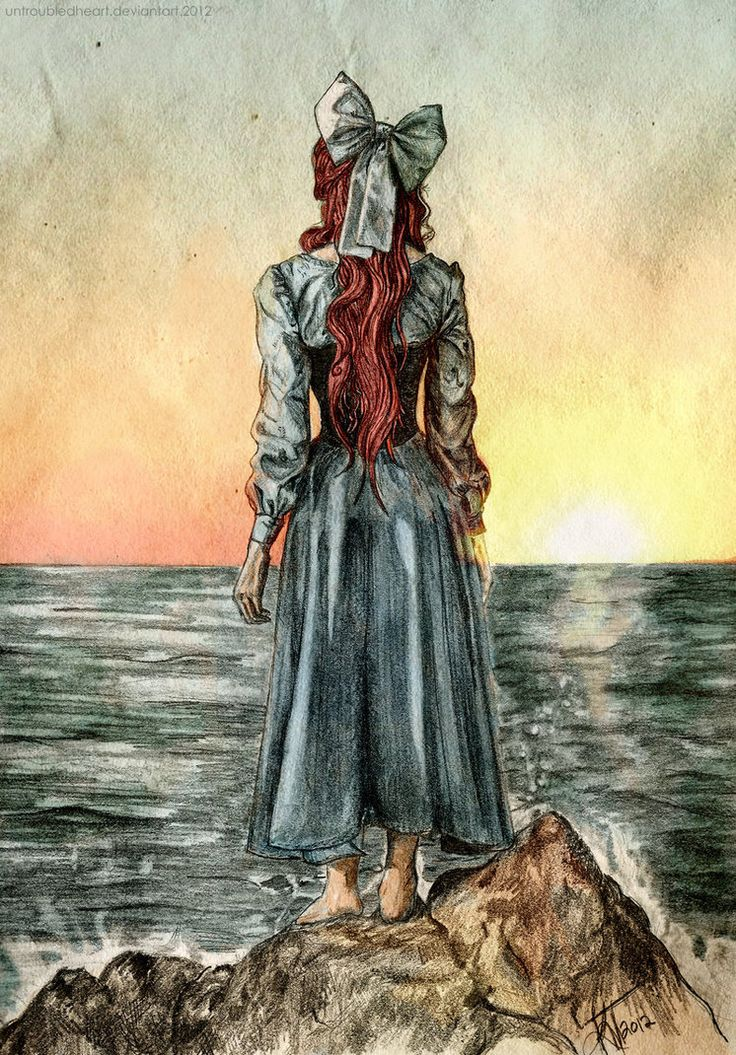 ::the sound of the sea:: by untroubledheart - I love this because I've always wondered if Ariel regretted her choice, or missed her family.  Even with her back to the viewer, she looks so sad in this image.