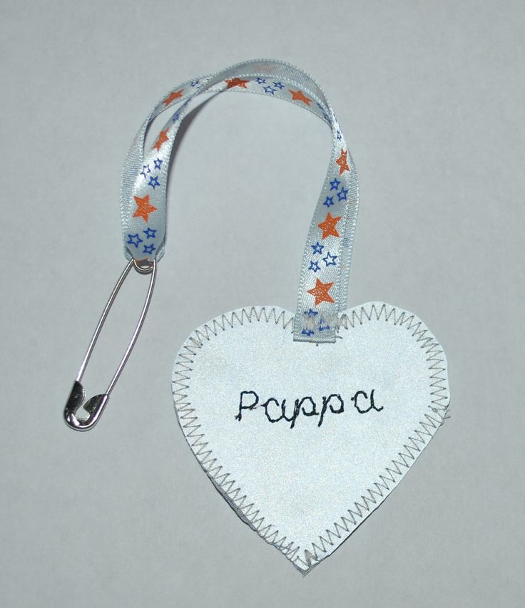 Emboidered safety reflector Pappa, Leonora