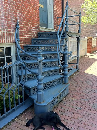 Replace wooden stairs!  Love this!