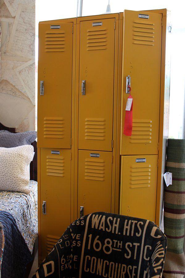 yellow lockers
