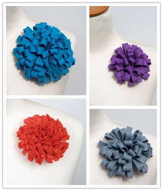 Fiori in feltro - Coccarde con fiori di feltro