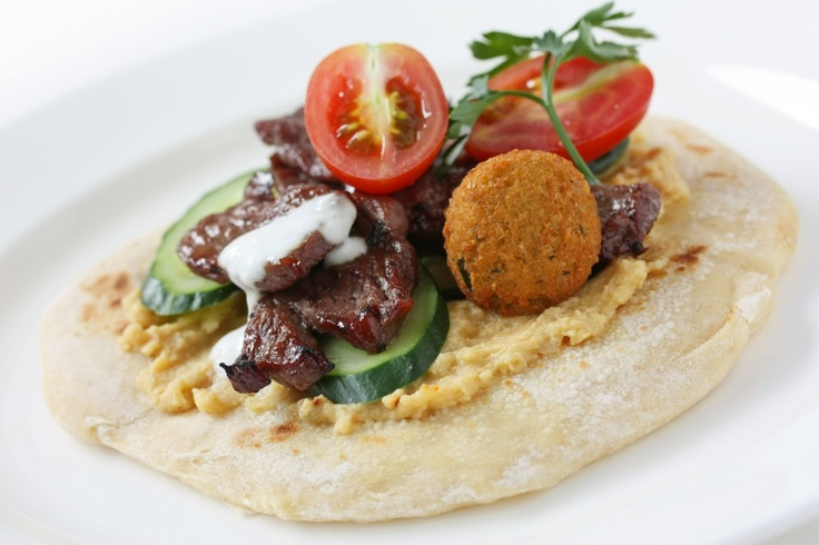 The Greek Pita Place: Ethnic Food in Salisbury - Falafel with lamb.