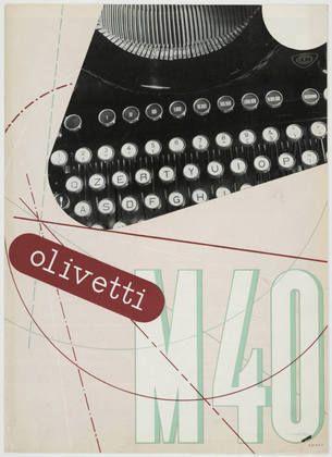 Xanti Schawinsky. Olivetti M40. 1934