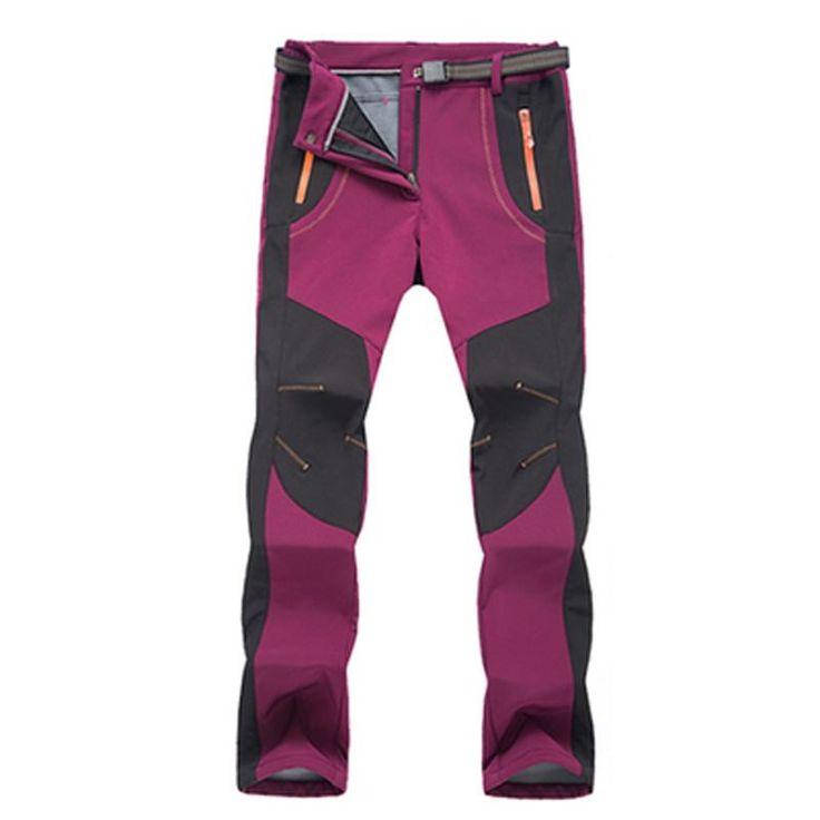 Unisex Adult's Thermal Pants Winter <b>Softshell Waterproof</b> Windproof ...