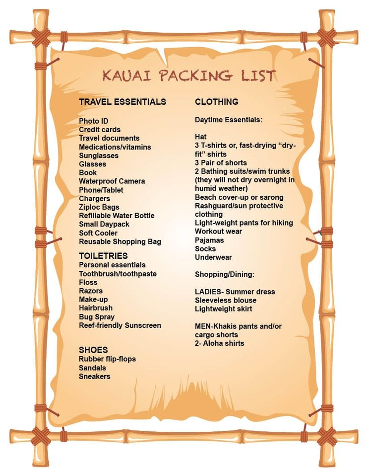 What to Pack for Your Kauai Vacation, Tips from a Local | Kauai.com