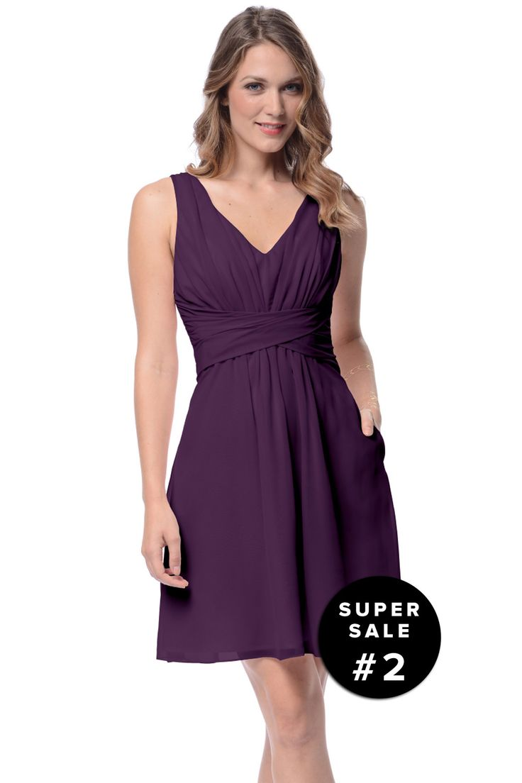 Shop Dove & Dahlia Bridesmaid Dress - Julia in Poly Chiffon at Weddington Way. Find the perfect made-to-order bridesmaid dresses for your bridal party in your favorite color, style and fabric at Weddington Way.