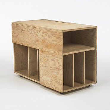 Albert Frey  cabinet  USA, c. 1942  white-washed plywood  36w x 19.25d x 26h