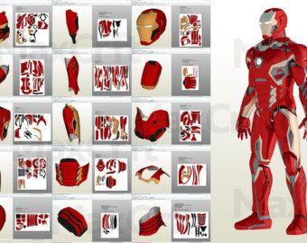 Invincible Iron Man 2015 Suit Pepakura DIY by MaxCrft on Etsy