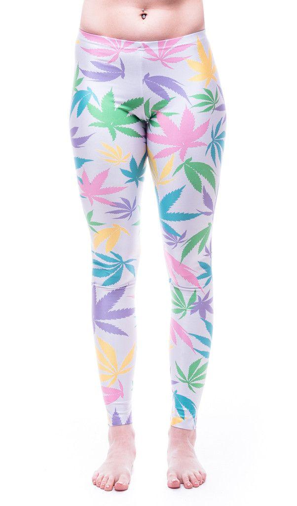 Bubblegum Kush Weed Print Leggings!