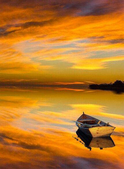 Sunrise at Caspian Sea, Iran