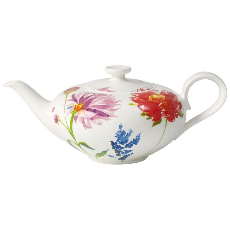 V&B - Anmut Flowers Teapot 1L | Peter's of Kensington