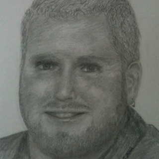 Pencil. $50-$75 a person. Email me for a quote. iluvmy1pit@yahoo.com Put portrait quote in subject field.