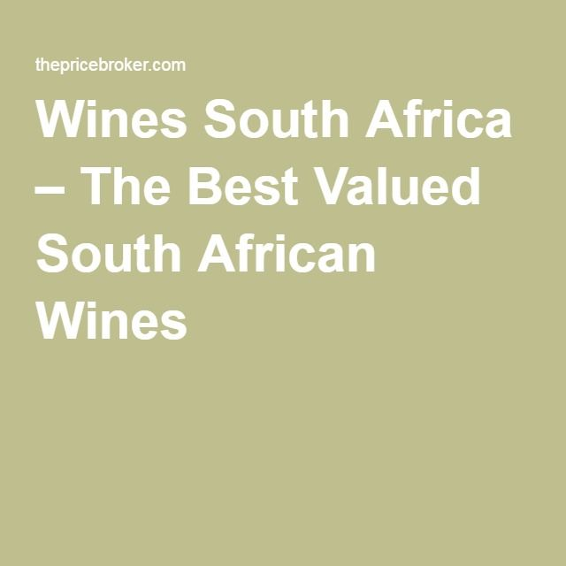 Wines South Africa – The Best Valued South African Wines