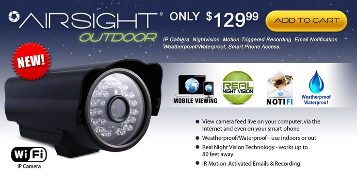 AirSight Outdoor Wireless IP Camera