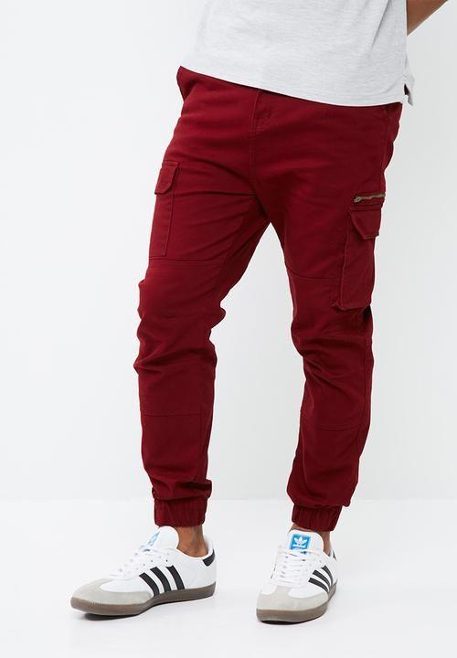 Looper slim utility cuffed- red basicthread Pants | Superbalist.com