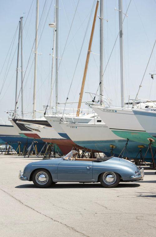 pale blue - 1957 Porsche 356A 1600 Speedster