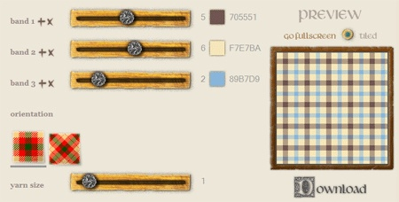 Tartan Maker - Generate tartans using your own color palette