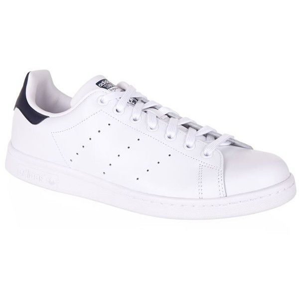 Adidas Originals Stan Smith Sneakers ($100) ❤ liked on Polyvore featuring men's fashion, men's shoes, men's sneakers, mens perforated shoes and mens tennis shoes