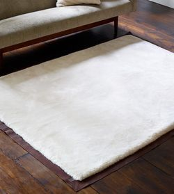 Clic Leather Bound Rug Collection With Plush