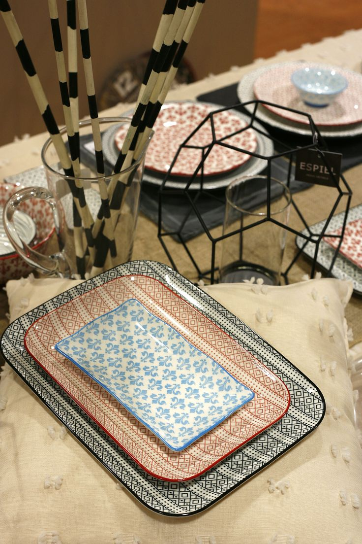Boho Dinnerware. New Trend Plates. Discover more at www.espiel.gr