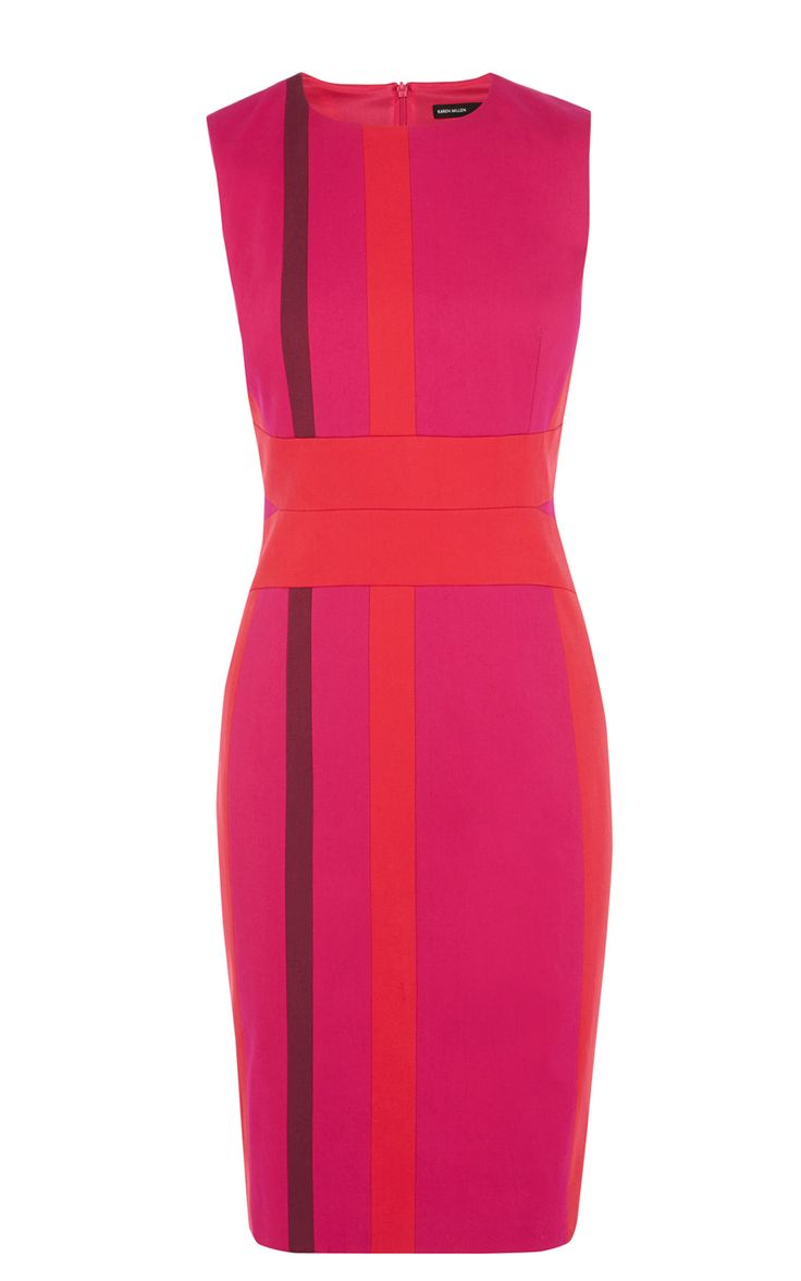 Karen Millen Colourful Stripe Panelled Dress