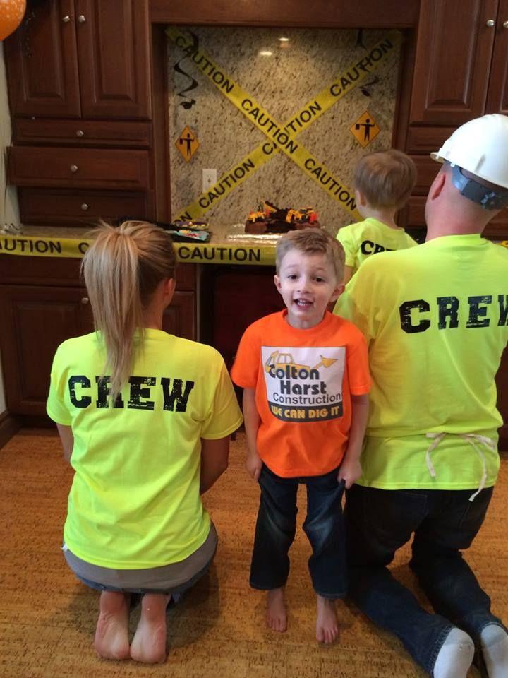 Construction Theme Birthday Party / Handy Manny / Bob the Builder / 4th Birthday / Toddler Birthday / Boy Birthday Party / DIY Iron On Shirt / DIY / Iron On