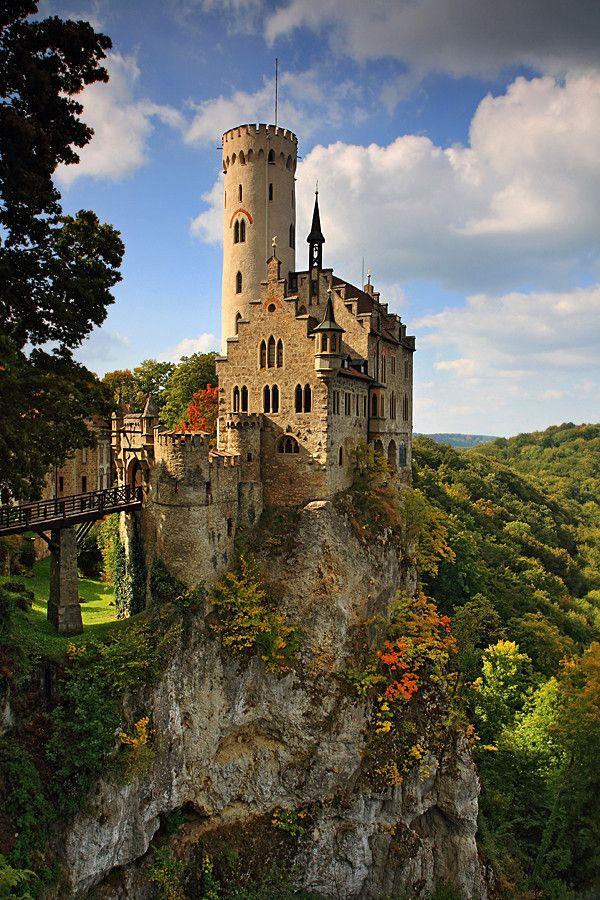★Schloss Lichtenstein (Lichtenstein Castle), near Honau, Swabian Alb, Baden-Württemberg, Germany.