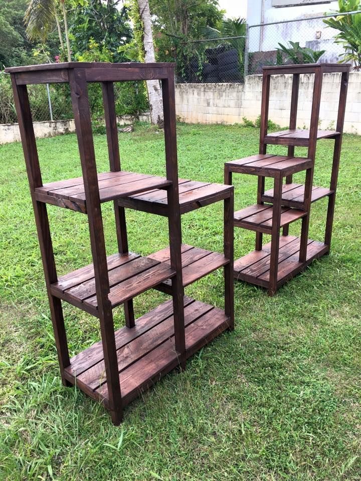 Multi-functional Pallet Shelves Rack   Pallet Furniture