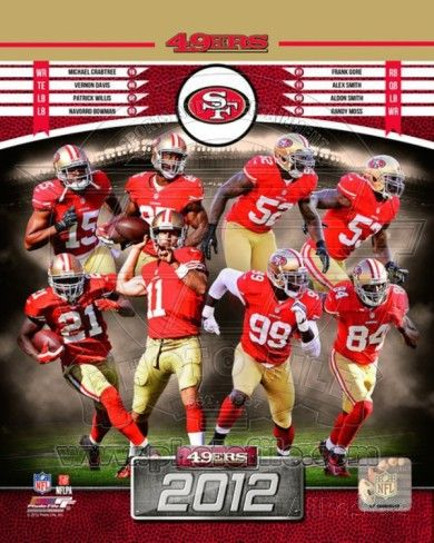 49ers players   San Francisco 49ers 2012 Team Composite Photo at AllPosters.com