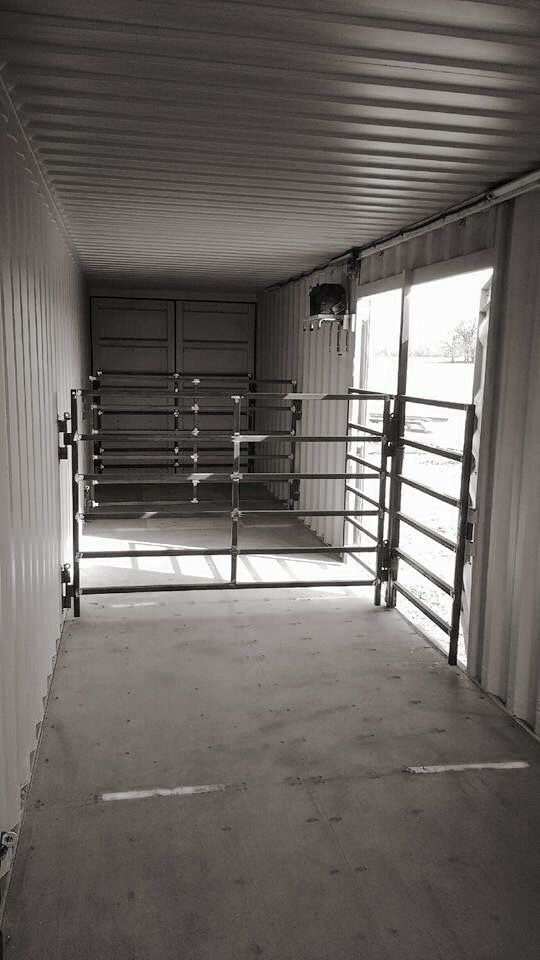 Shipping container repurposed | Goat barn, Livestock barn ...
