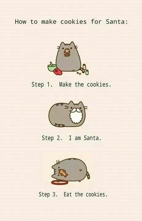 A how to pusheen christmas
