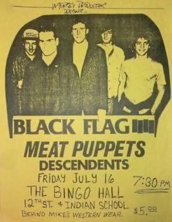 Black Flag/Meat Puppets/Descendents flyer