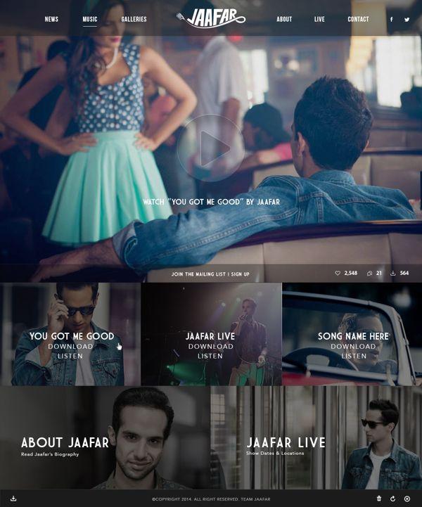 Jaafar's Website Redesign on Behance