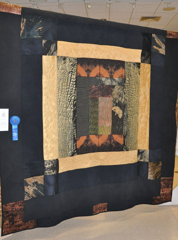 King+size+Earthtone+Quilt+by+MKStudioArtQuilts+on+Etsy,+$1900.00